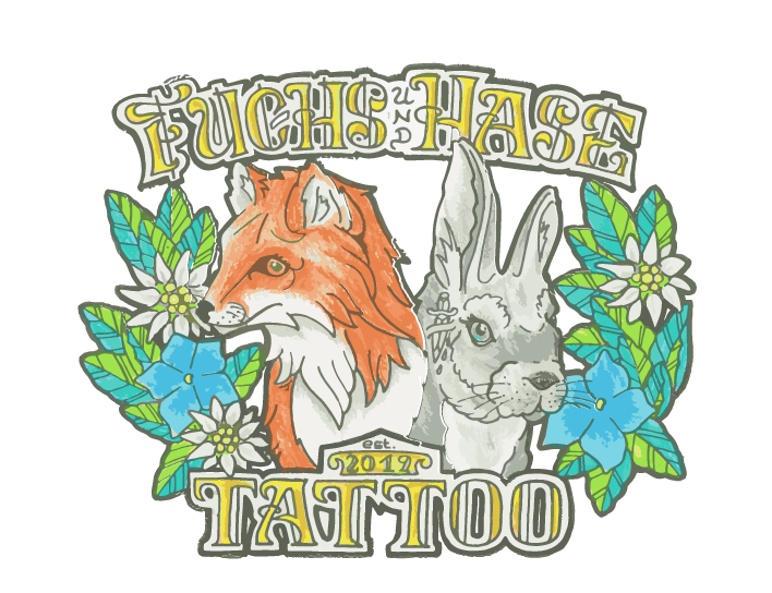 Fuchs und Hase Tattoo